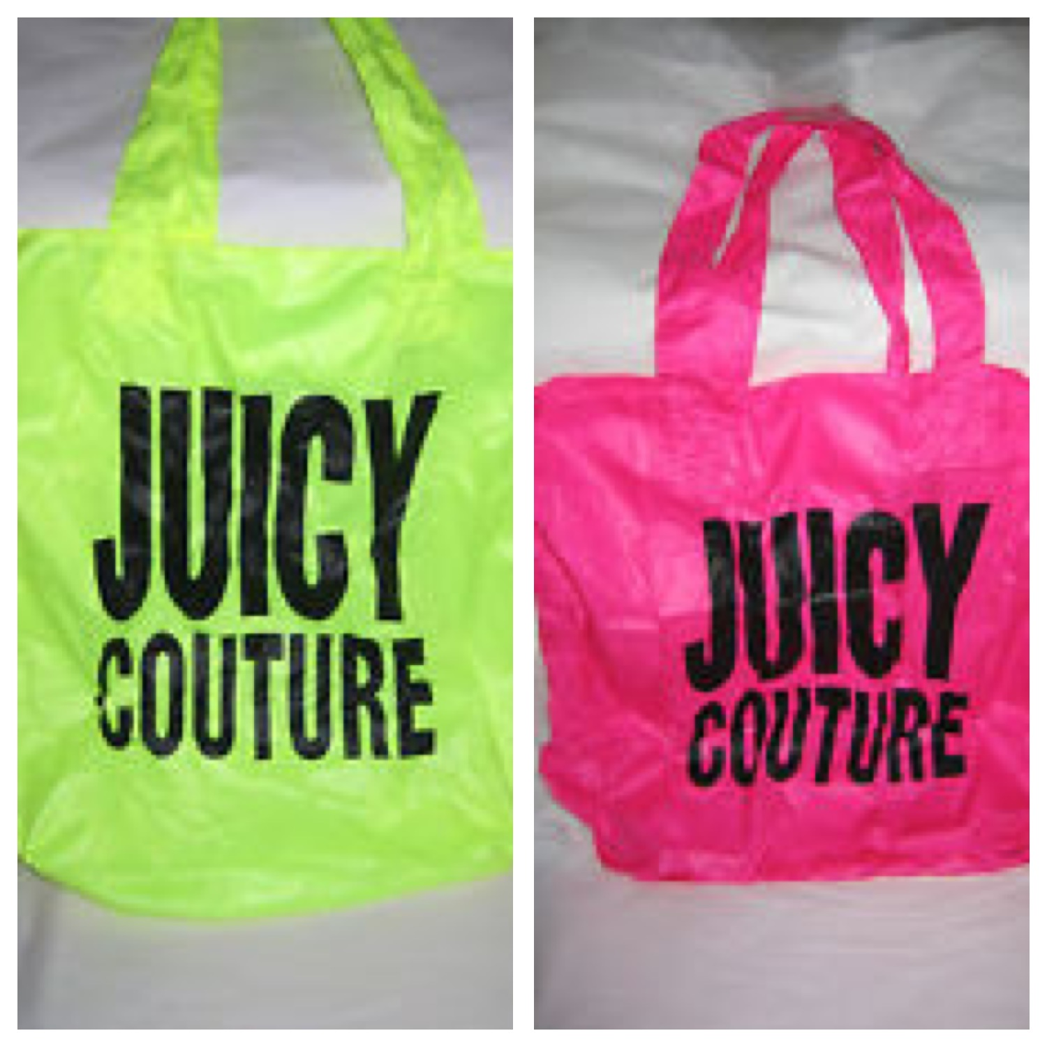 JUICU NEON YLLOW AND PINK TOTE