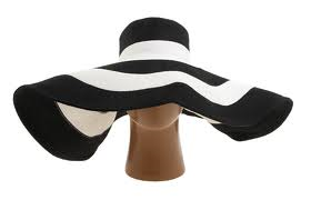 black and white straw floppy hat from ASOS