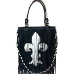 black fringe steve madden tote bag from dillards