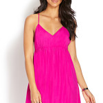 neon pink babydoll dress
