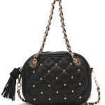pacsun black quilted crossbody