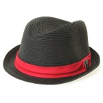 red and black fedora