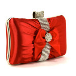 red jeweled clutch purse