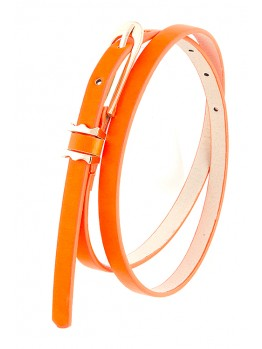 skinny neon orange belt