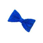 Mini Lace Bow Hair Clip Blue from Claire's