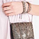 Ecote Embellished Small Shoulder Bag Grungy Look