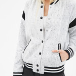 Marled Tweed Bomber Jacket Forever 21 Preppy Look