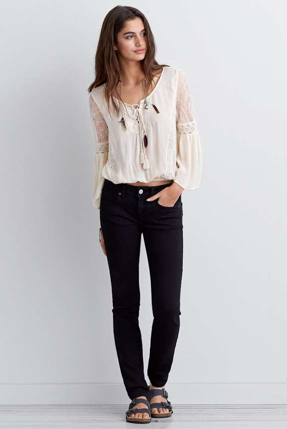Preppy Look Skinny Jeans from American Eagle