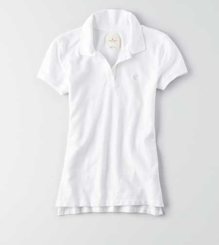 Uniform Look White Short Sleeve Polo from American Eagle