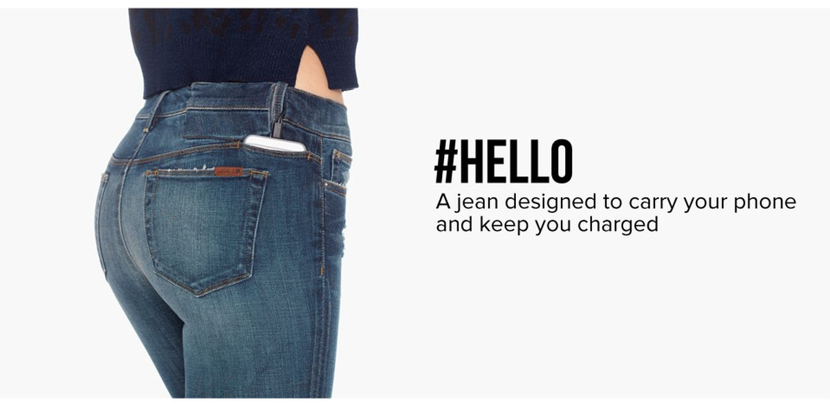 phone charging jeans