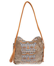 Casual Look Tribal Print Tassel Tote Bag from Forever 21