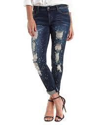 Mixed Bag Look Refuge Boyfriend Splattered & Destroyed Jeans from Charlotte Russe